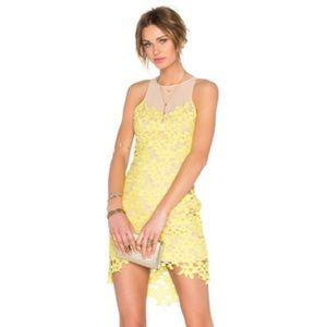 Yellow short Lovers + Friends dress size small